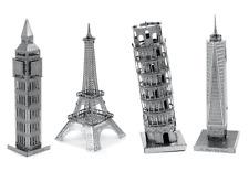 Fascinations Metal Earth Model Kits Big Ben One World Trade Eiffel Tower of Pisa