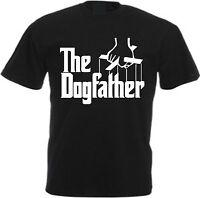 THE DOGFATHER Funny T-Shirt Cotton S-XXL Black Joke Humour Godfather Parody Dog