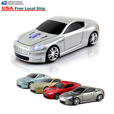 2.4Ghz Wireless USB car mouse Cordless Optical Laptop PC Gaming LED MAC Mice W10