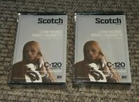 Vintage Lot of 2 Scotch 3M C-120 Cassette Tapes Blank Low Noise High Density