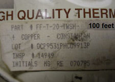 100 feet of Omega FF-T-20-TWSH Thermocouple wire Type T 20 awg PTFE jacket