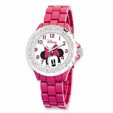 Disney Watches Women's Minnie Mouse Enamel Sparkle Bracelet Watch