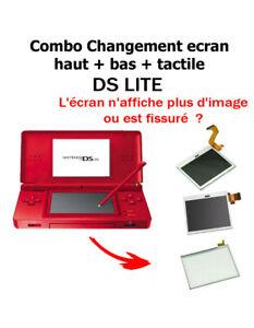 Ecran LCD haut et bas + tactile de remplacement pour Nintendo DS Lite