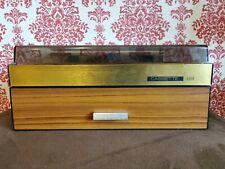 Vintage Cassette Holder Box x69 Cassettes Teak & Perspex Finish Good Condition