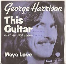 """7"""" GEORGE HARRISON - This Guitar - EX/EX - APPLE - 4 C006-06041 - BELGIUM"""