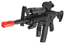 M4 RIS Auto Electric Airsoft Gun with Laser, Flashlight, Fore Grip, Well D92H