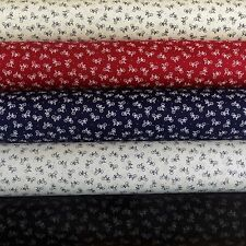 Cotton Poplin Bikes Bicycles Cycles Dressmaking Fabric, Black, White, Red, Cream