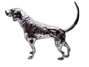 Coonhound Desk Top Aluminium Figurine Foxhound 11 inches