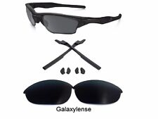 Galaxy Replacement Lenses + Rubber Kits For Oakley Half Jacket 2.0 Black