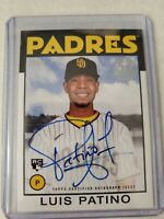 Luis Patino 2021 Topps Series 1 1986 35th Anniversary Rookie On Card Auto Padres