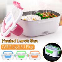 Portable Electric Heated Car Plug + EU Plug Heating Lunch Box Bento Food