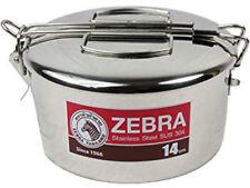 Zebra Camping Pot Stainless Steel Pan Set 14cm Bushcraft Survival Lunch Box