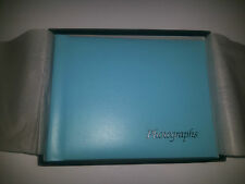 TOP QUALITY HANDMADE REAL LEATHER PHOTOGRAPH HOLDER HAND MADE IN UK- Turquoise
