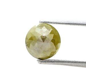 Sfuso Diamante Naturale 1.03Ct Grigio Verde Mix Luccicante Rotondo Tambuli Cut A