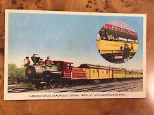 Antique Postcard c1947 Chicago Railroad Fair Deadwood Central Train R.P.O.