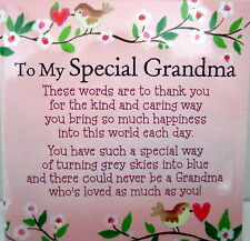 """""""SPECIAL GRANDMA"""" MAGNET INSPIRATIONAL LOVING VERSE BIRTHDAY MOTHER'S DAY GIFT"""