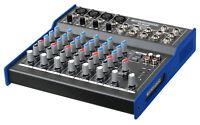 MIXER DJ DISCO AUDIO PASSIVO CONSOLLE 8 CANALI 3 BAND EQ PHANTOM 48V LED TRIM