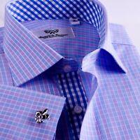 Men's Blue Formal & Business Dress Shirt B2B Shirts Promotional Clearance Sale