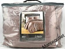 New ListingMartha Stewart Collection Silky Satin Full / Queen Quilt Mauve