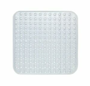 """Stall Size""""Bubble"""" Look Vinyl Bath Mat in clear."""