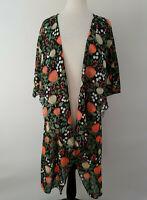 M - Medium LuLaRoe Shirley Kimono Beautiful Black base Floral NWT 206