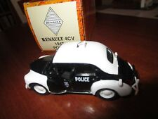 VOITURE POLICE RENAULT 4CV POLICE 1943 NOREV 1/43 COLLECTION +BOX CAR MINIATURE