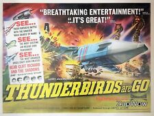 More details for thunderbirds are go 1966 zero-x anderson original vintage uk film quad poster