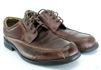 Bass Lincoln Oxford Mens Sze 10.5 M Brown Leather Lace Up Apron Bicycle Toe Shoe