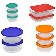 Pyrex 20 pc Glass Food Storage Set Bakeware Bowls with Lids Serving NEW NEW NEW