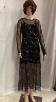 Xhilaration Women's Maxi Mesh Overlay Dress Black Juniors M