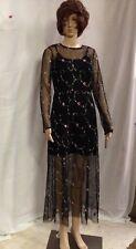 Xhilaration Women's Maxi Mesh Overlay Dress Black Juniors M