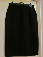 Vintage Hamells Long Black Suit Skirt in Size 10