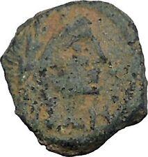 Aretas IV Arab Kingdom of Nabataea PETRA 4BC Original Ancient Greek Coin i50390