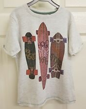 Boys Grey Short Sleeve T-shirt Top. 6 Years. Skate Boards.