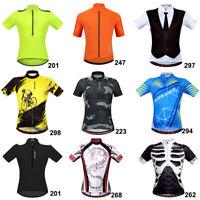 Men Short Sleeve Cycling Jersey MTB Mountain Road Bike Shirt Cycle Top Quick Dry