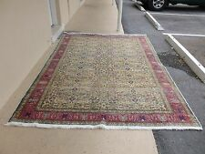 GORGEOUS VINTAGE TURKISH AREA ORIENTAL RUG OF PERSIAN DESIGN W MUTED COLORS