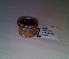 Anello argento 925 MY MARA misura unica,placcato oro rosa con cristalli