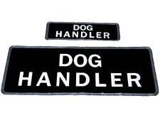 Black Dog Handler Reflectante insignia (set) para la policía, seguridad, oficial, Canino