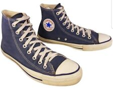 VINTAGE USA MADE CONVERSE HIGH TOP BLUE SNEAKERS SIZE MAN 9/WOMAN 11