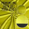 Premium LIME GREEN Soft Plush Velvet Upholstery Fabric Material Curtains Cushion
