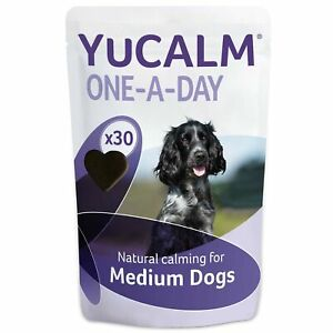 Lintbells   YuCALM ONE-A-DAY Medium Chewies For Dogs   Calming Supplement for...
