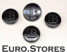 4 x Brabus Smart Fortwo 451 Wheel Hub Caps Black Glossy Genuine  A4544010324C50B