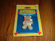 Vintage Graduation Lapel Pin Gibson Greetings Inc. Teddy Bear School College OLD