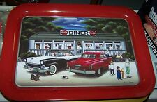 """COCA COLA COKE METAL TRAY """"LOST IN THE 50's DINER"""" W/ tray magnet & COASTER SET"""