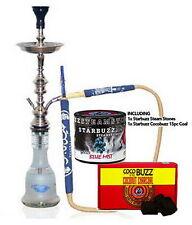 "KM Khalil Mamoon Shisha Hookah Cafe Style 31"" 75cm + Starbuzz Steam Stones Coal"