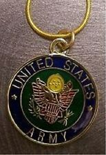 Military Necklace U S Army 18KRGP chain NEW