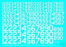 """USA 45 DEG ID NUMBERS  36"""" 24"""" 18"""" water slide transfers decals FP831White 1/72"""
