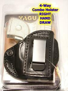 IPH4-005 TAGUA 4-Way Combo IWB or BELT Holster for RUGER LCP with Laser