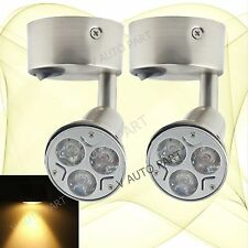 2X 12V DC Warm White LED Bed Side Light Car Cabinet Read Wall Lamp Switch On Off