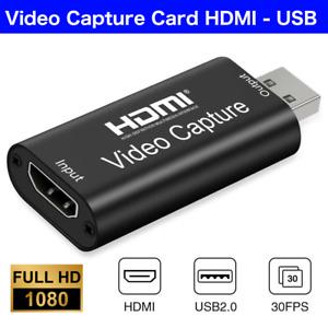 4K Video Capture Card HDMI auf USB 1080P Live Video Streaming Game Recorder NEU